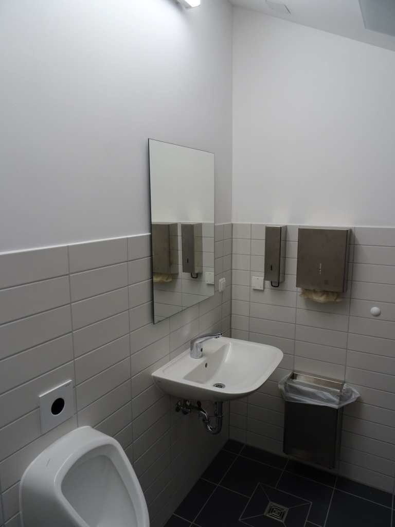 Innenansicht der Toiletten