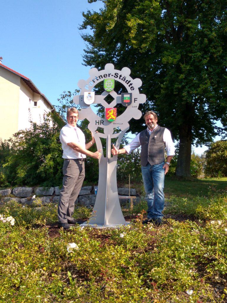 Denkmal für die Stadtpartnerschaften