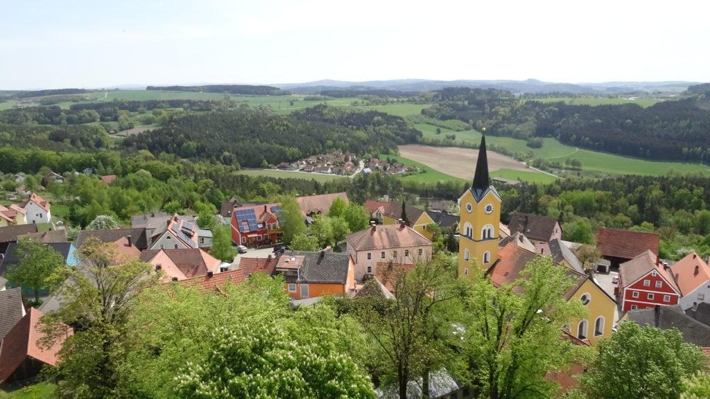 Panoramablick über Markt Leuchtenberg