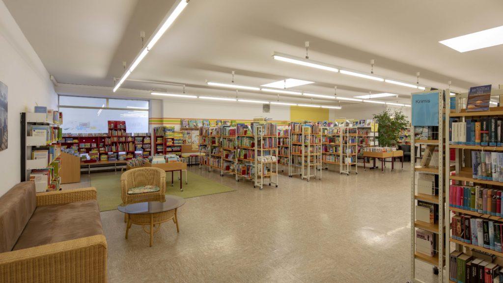 Stadtbücherei Lesebereich