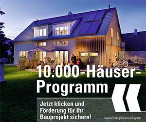 Themenbild zum 10.000-Häuser-Programm von der Bayerischen Staatsregierung