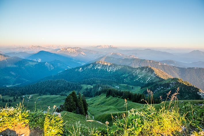 Tagesausflug Traunreut Wandern Berggehen Hochgern Chiemgau