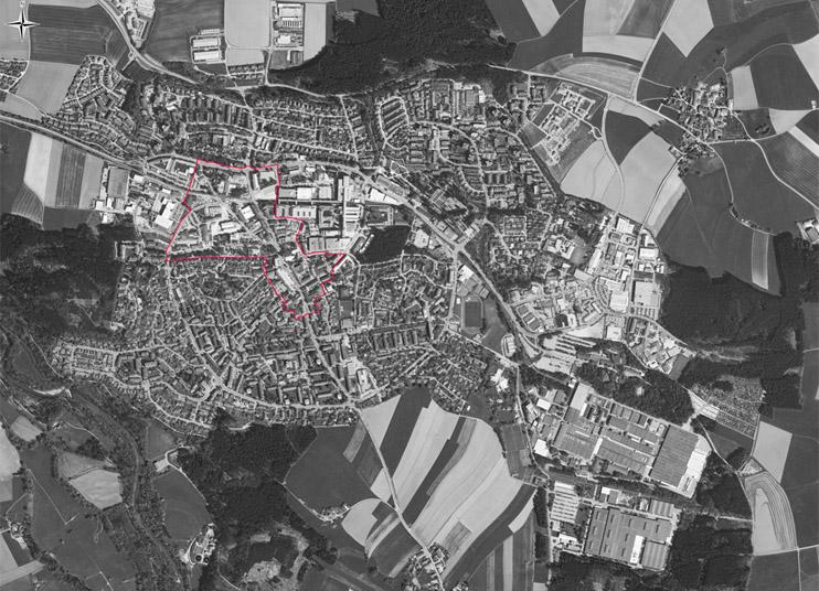 Luftbild Kernstadt 2011
