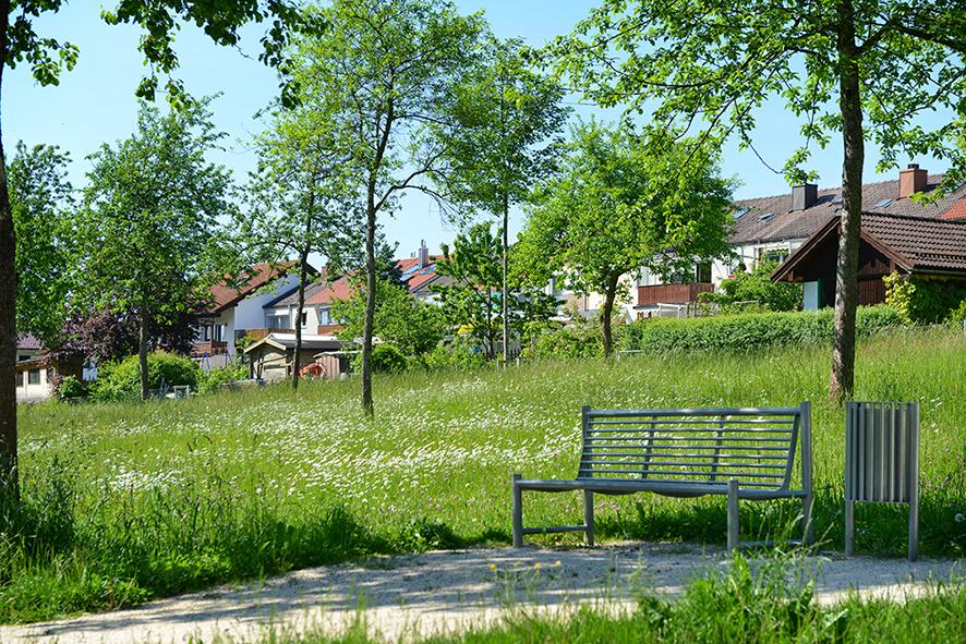 Traunreuter Stadtrundweg Spaziergang Traunreut