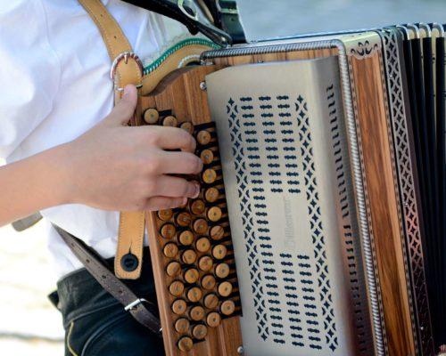 Akkordeonspieler der Musikschule Traunwalchen