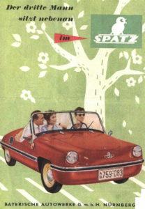 Der Spatz Auto Traunreut Werbeplakat