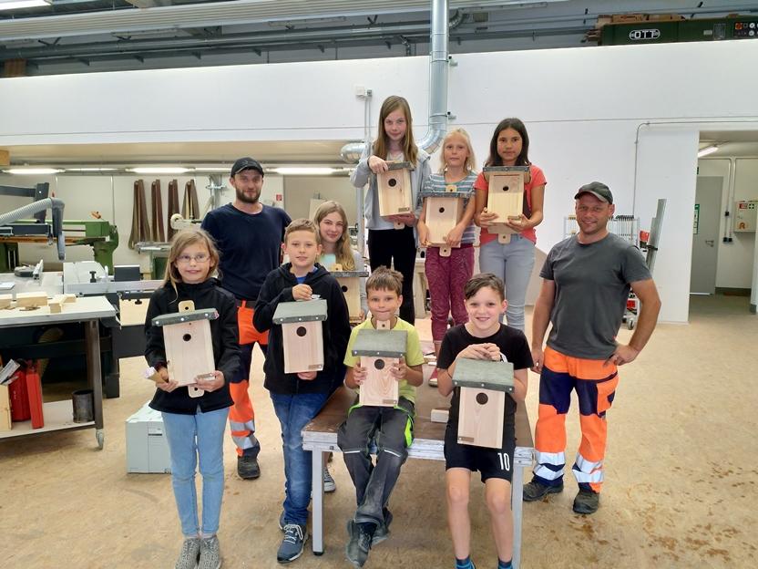 Ferienprogramm Traunreut Bauhof Vogelhäuschen