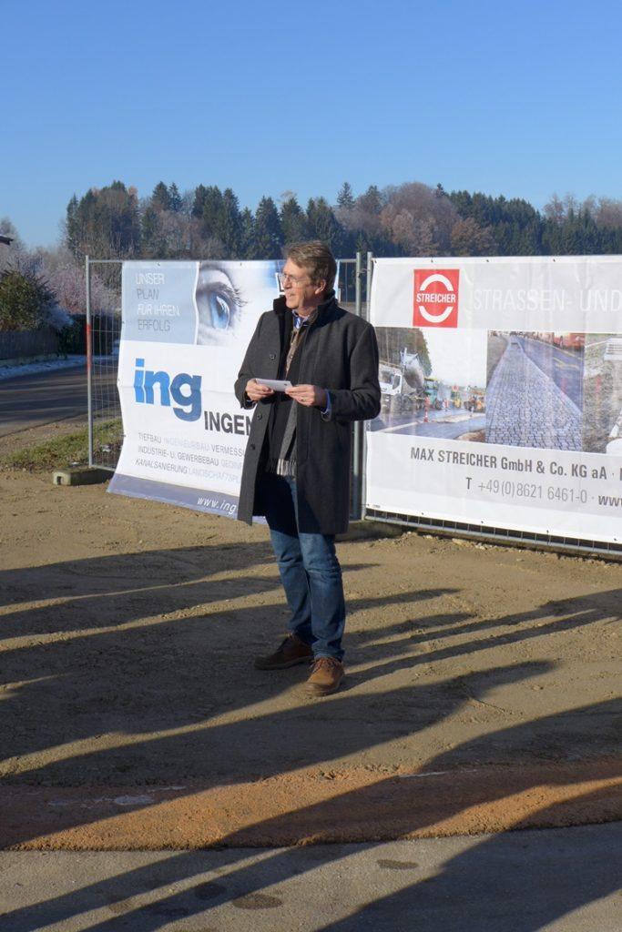 Traunreut Spatenstich Gemeindeverbindungsstraße Hörpolding-Hassmoning
