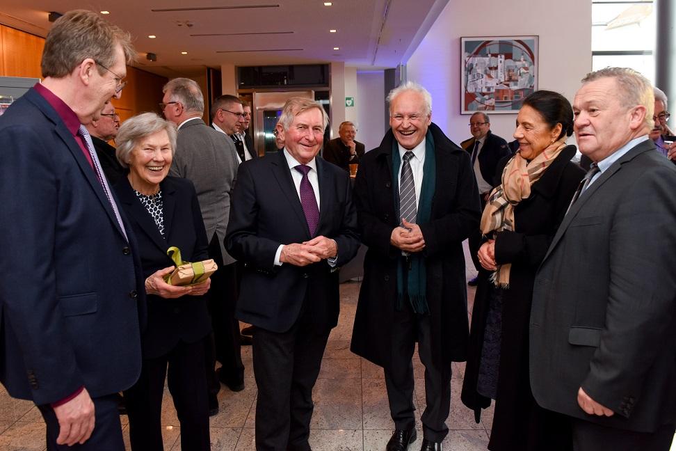 Traunreut Stadt k1 Alois Glück Erwin Huber Festakt 80 Geburtstag