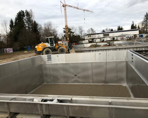 Ortsbesichtigung Sanierungsarbeiten Freibad Traunreut