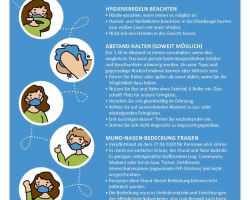 Information des Landkreises Traunstein für Fahrgäste im ÖPNV