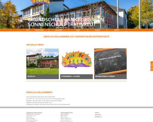 Sonnenschule Traunreut Internetseite