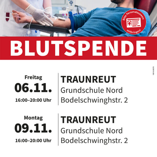 Blutspende in Traunreut