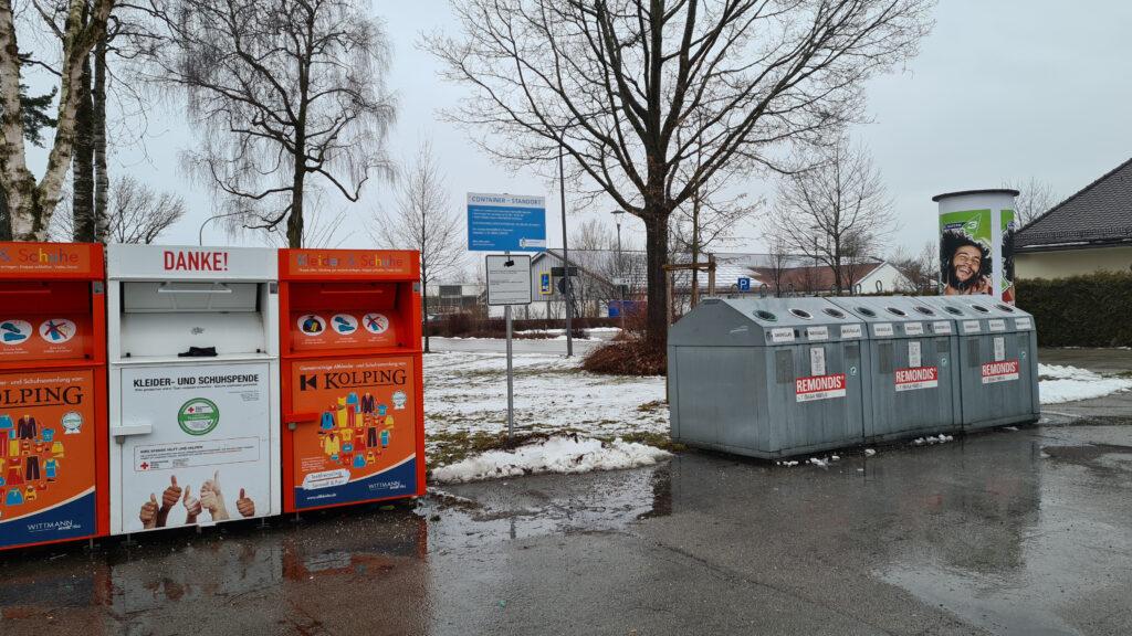 Beschilderung Containerstandort Traunreut