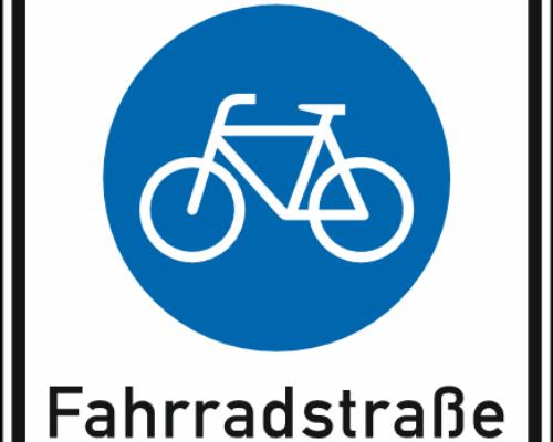 Grafik - Fahrradstraße