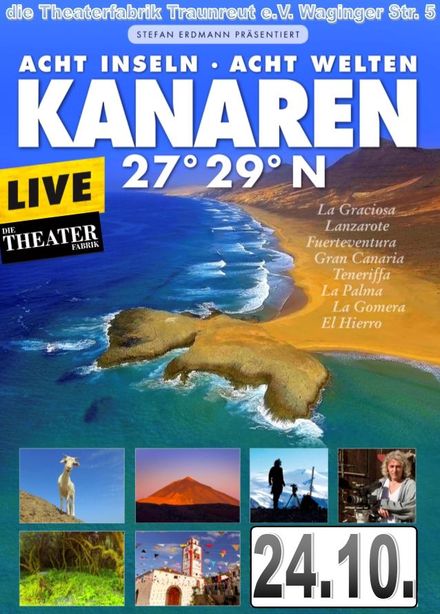STEFAN ERDMANN – die Kanaren 27° 29°N – LiveFilm-Vortrag im Theatersaal der Theaterfabrik