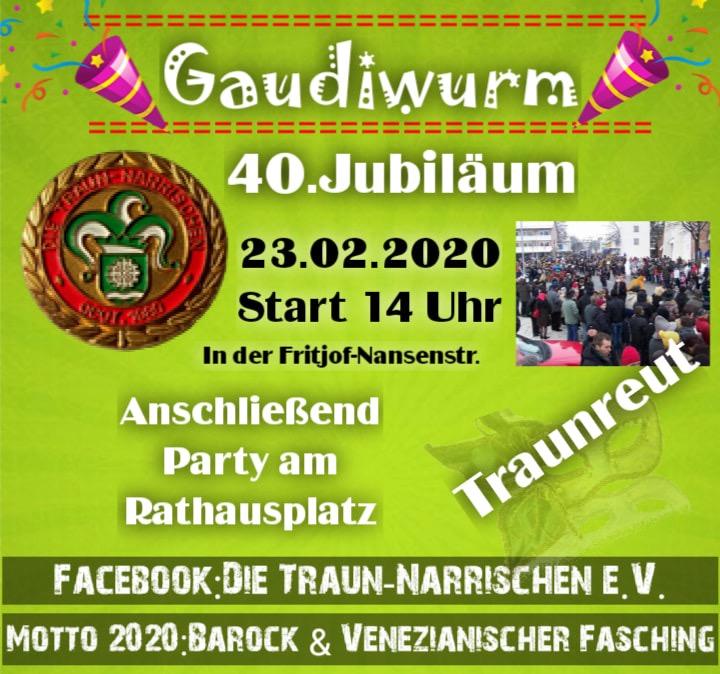 Jubiläums Gaudiwurm der Traunnarrischen