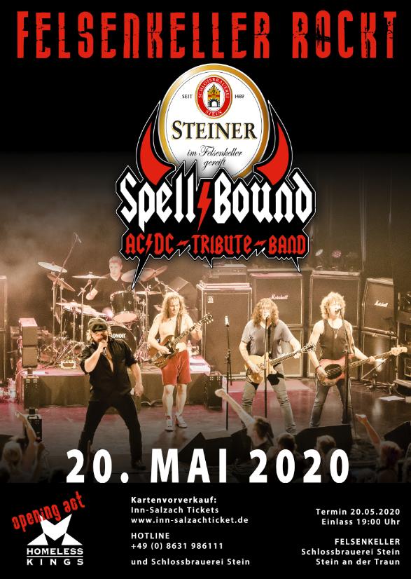 """AC/DC Tribut Band """"Spell/Bound im Felsenkeller"""