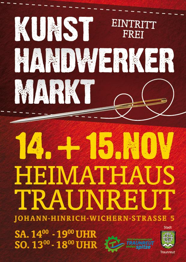 Abgesagt! Kunst- Handwerker – Markt Traunreut