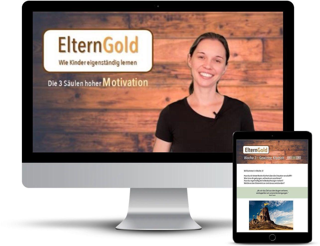 ElternGold – Wie Kinder eigenständig lernen – online Die 3 Säulen hoher Motivation