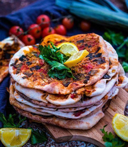 Orientalische vegetarische Küche